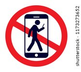no phone zone sign | Shutterstock .eps vector #1173273652