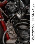old rusty motorcycle engine... | Shutterstock . vector #1173275122