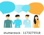 people's communication with... | Shutterstock .eps vector #1173275518