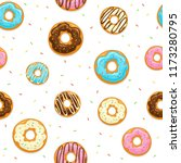 seamless background with donuts ... | Shutterstock .eps vector #1173280795