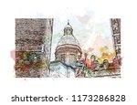 bologna due torri   piazza... | Shutterstock .eps vector #1173286828