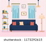 home interior with furniture... | Shutterstock .eps vector #1173292615