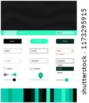 light green vector ui kit with...