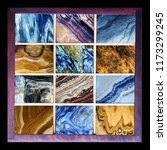 top collection of natural stone ... | Shutterstock . vector #1173299245