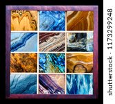 top collection of natural stone ... | Shutterstock . vector #1173299248