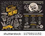 bakery menu for restaurant... | Shutterstock .eps vector #1173311152