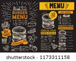 burger flyer for restaurant... | Shutterstock .eps vector #1173311158