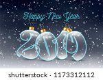 beautiful inscription 2019 of... | Shutterstock .eps vector #1173312112