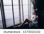 morning of the bride. preparing ... | Shutterstock . vector #1173322132
