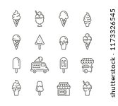 ice cream related icons  thin... | Shutterstock .eps vector #1173326545