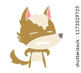 flat color style cartoon wolf...   Shutterstock .eps vector #1173329725