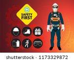 safety equipment  construction... | Shutterstock .eps vector #1173329872