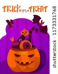 halloween holiday greeting card.... | Shutterstock .eps vector #1173331768