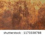 grunge rusted metal texture.... | Shutterstock . vector #1173338788