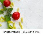 small ripe tomatoes  fresh... | Shutterstock . vector #1173345448