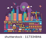 city info graphic background... | Shutterstock .eps vector #117334846