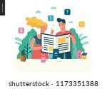 business series   articles  ... | Shutterstock .eps vector #1173351388