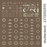 vector set of calligraphic... | Shutterstock .eps vector #1173352555