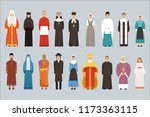 religion people set  men and... | Shutterstock .eps vector #1173363115