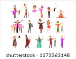 magician in the circus show... | Shutterstock .eps vector #1173363148