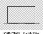 modern laptop computer vector... | Shutterstock .eps vector #1173371062
