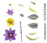 watercolor. field flowers.... | Shutterstock . vector #1173376408