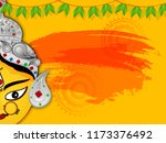 shubh navratri background... | Shutterstock .eps vector #1173376492