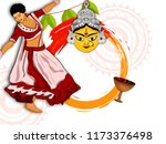 shubh navratri frame with... | Shutterstock .eps vector #1173376498