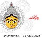shubh navratri  vector... | Shutterstock .eps vector #1173376525