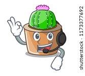 with headphone mascot star...   Shutterstock .eps vector #1173377692