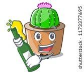 with beer mascot star cactus...   Shutterstock .eps vector #1173377695
