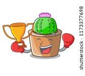 boxing winner mascot star...   Shutterstock .eps vector #1173377698