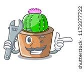 mechanic mascot star cactus...   Shutterstock .eps vector #1173377722