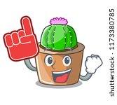 foam finger mascot star cactus...   Shutterstock .eps vector #1173380785