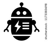 rounded robot solid icon.... | Shutterstock .eps vector #1173383698