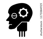 android head solid icon.... | Shutterstock .eps vector #1173384925