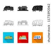 vector design of train and... | Shutterstock .eps vector #1173392062