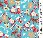 christmas seamless background... | Shutterstock .eps vector #1173393142