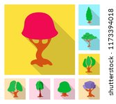 vector illustration of tree and ...   Shutterstock .eps vector #1173394018