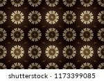 seamless golden texture curls.... | Shutterstock . vector #1173399085