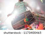 dhol player during sangeet... | Shutterstock . vector #1173400465