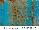 blue metal rust grunge... | Shutterstock . vector #1173414232