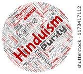 vector conceptual hinduism ... | Shutterstock .eps vector #1173417112