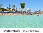 ayia napa  cyprus   july 11 ... | Shutterstock . vector #1173426562