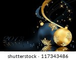 christmas  background gold and... | Shutterstock .eps vector #117343486