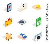 supercomputer icons set....