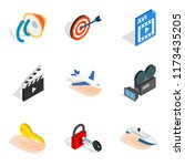 mainframe icons set. isometric...