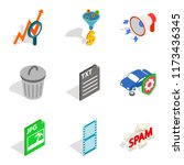 mac icons set. isometric set of ...