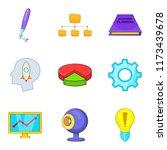 appendix icons set. cartoon set ...