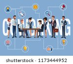 business coworkers cartoons | Shutterstock .eps vector #1173444952